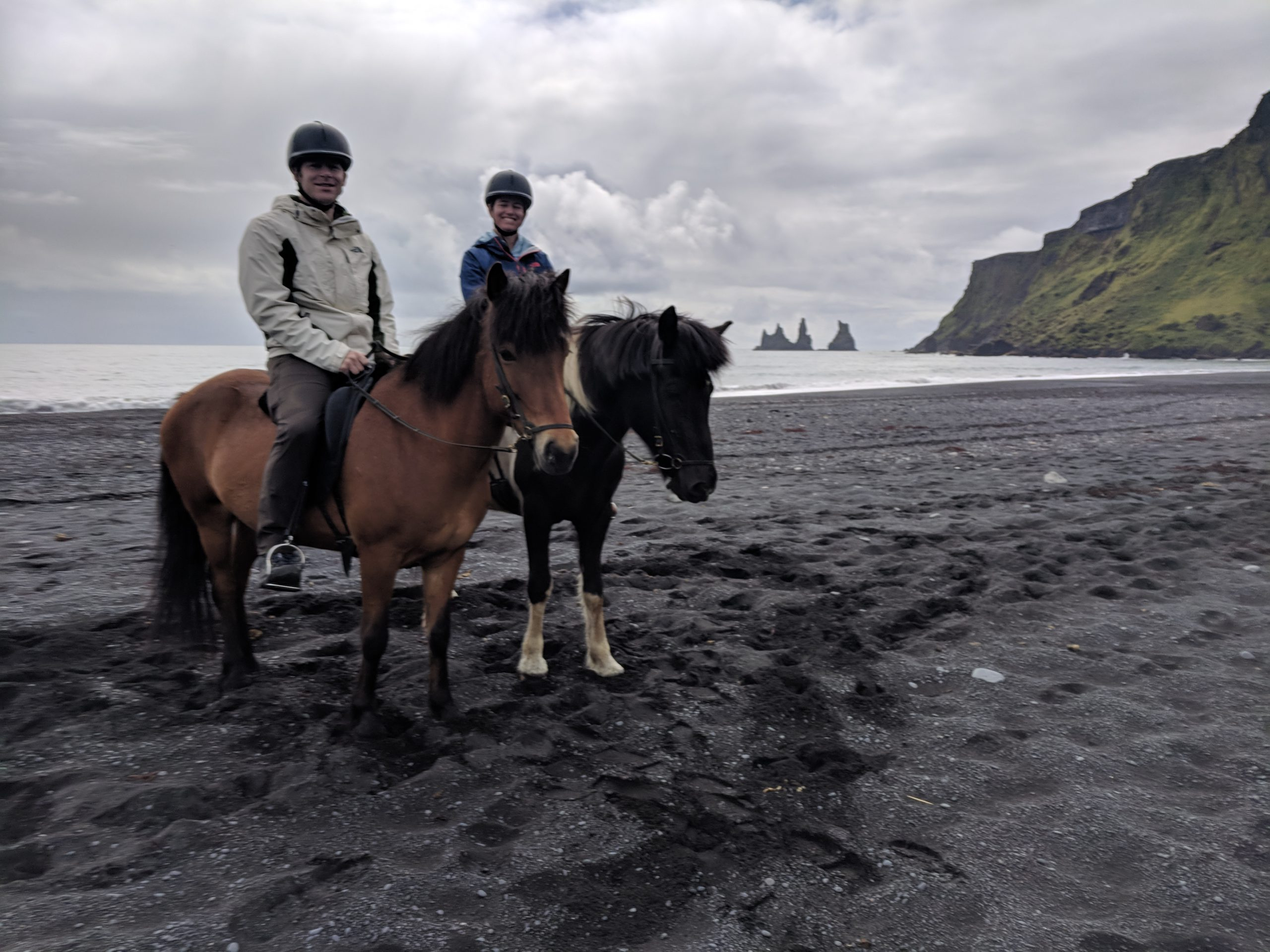 Horseback Riding on Iceland's Black Sand Beach