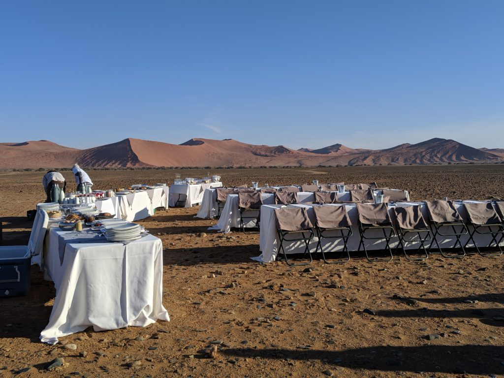 Champagne Breakfast in the Desert