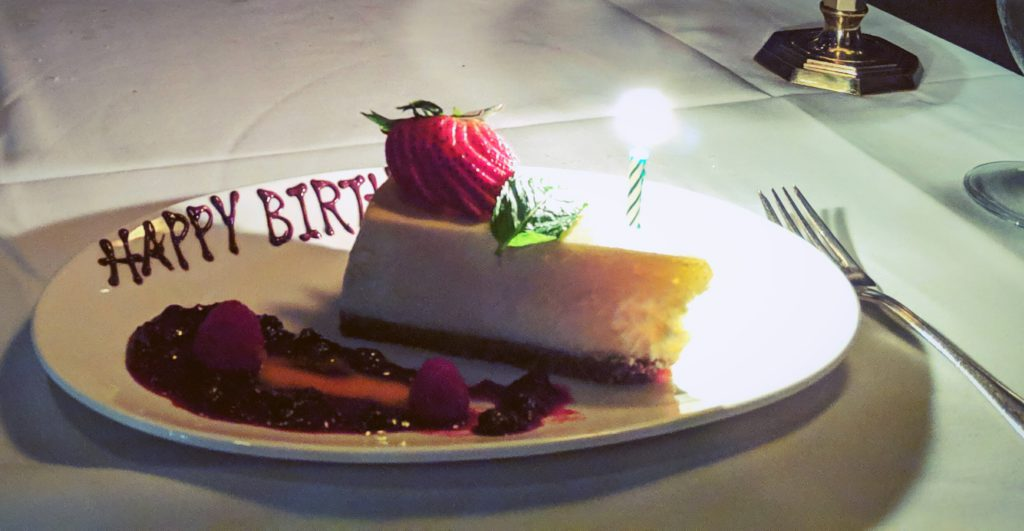 The cheesecake at Gotham Steakhouse is a must!