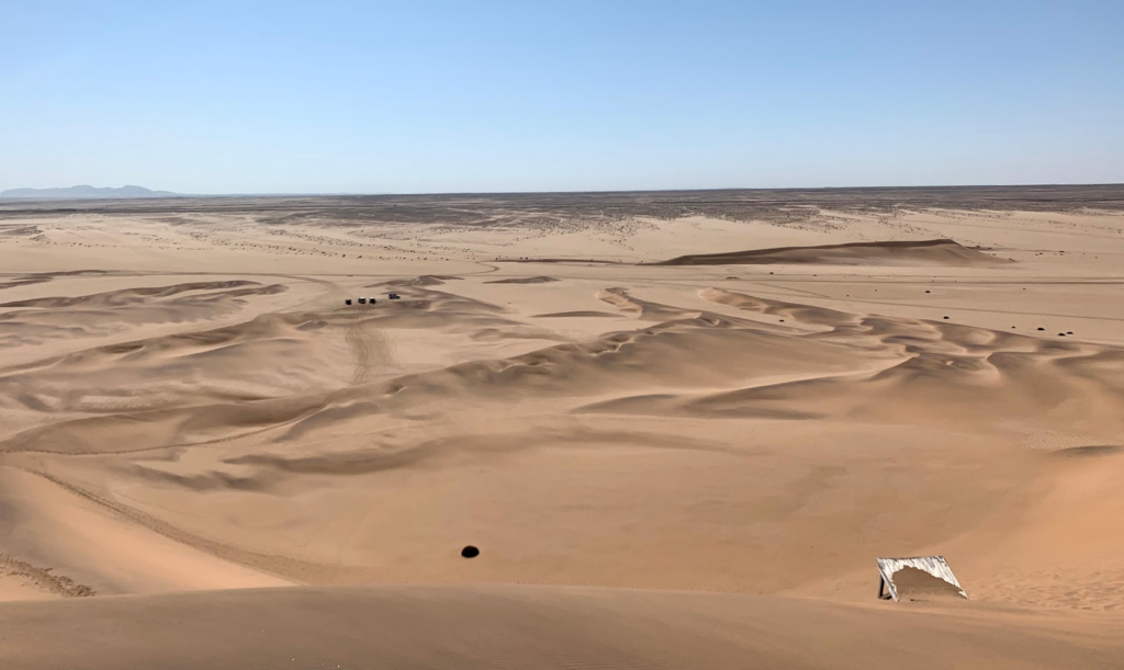 View from the top of the dunes